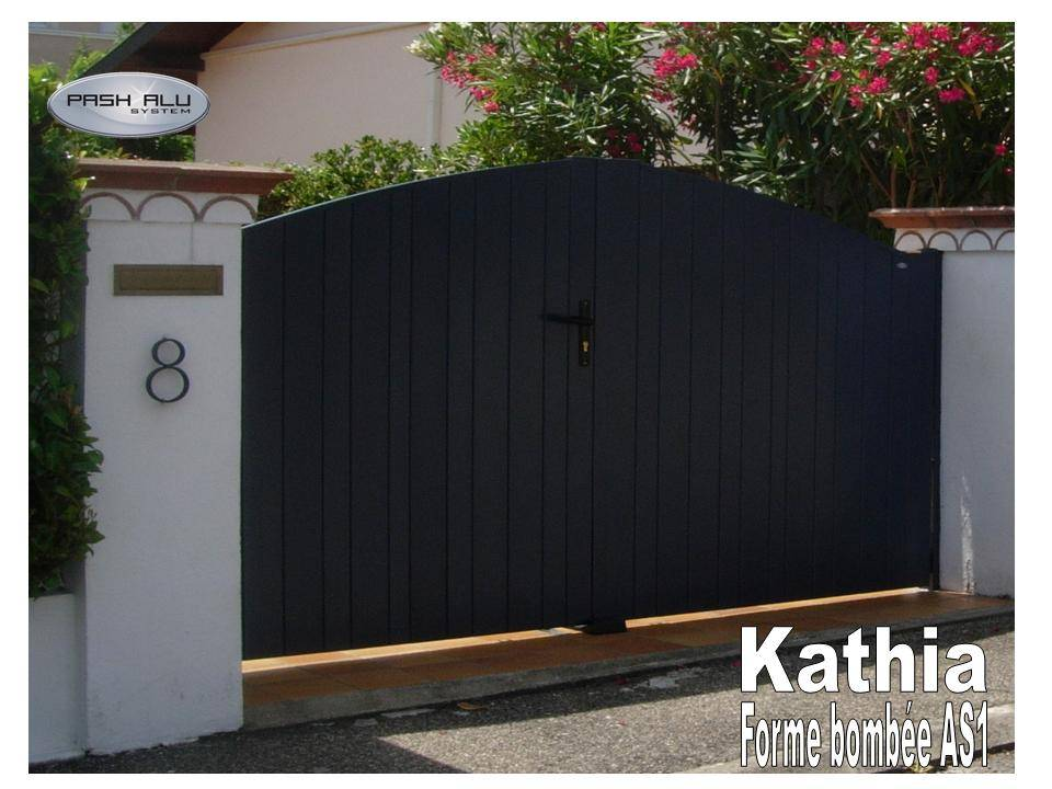 portail chapeau de gendarme aluminium kathia de pash. Black Bedroom Furniture Sets. Home Design Ideas