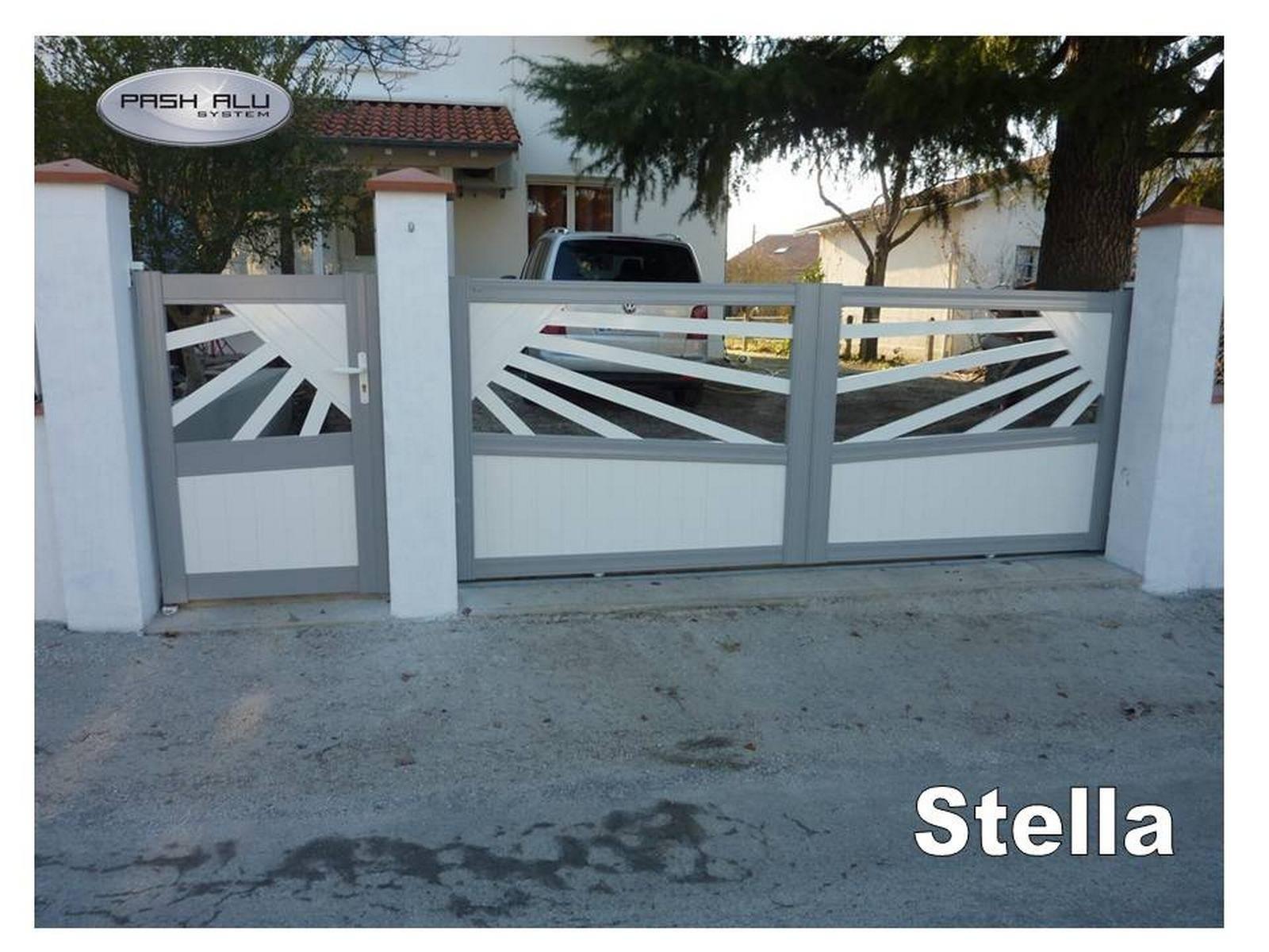 Fabrication portail ajour coulissant toulouse fabrication et pose de portail volets et for Fabricant portail alu coulissant