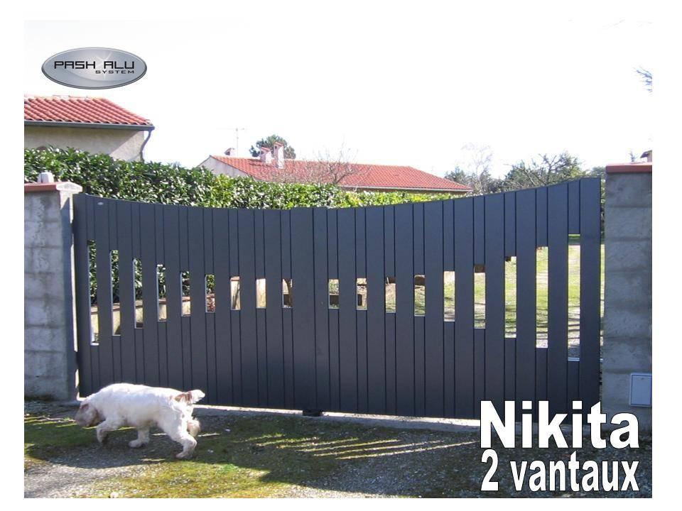 Portail coulissant nikita fabrication et pose de portail volets et pergola autour de toulouse for Fabricant portail alu coulissant