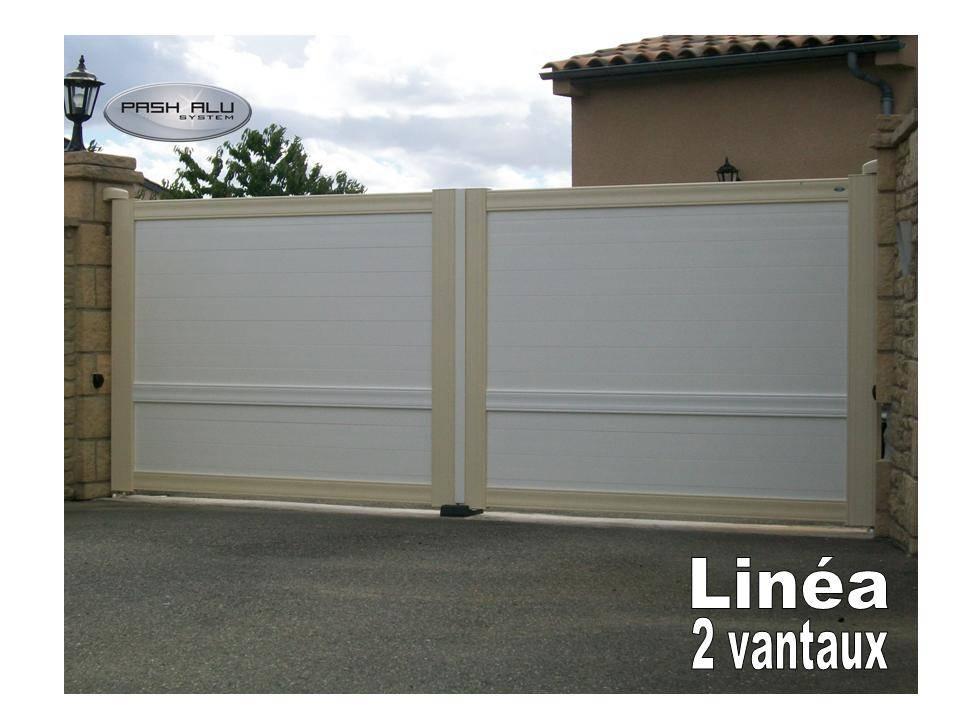 Portail 2 vantaux linea fabrication et pose de portail - Portail 2 vantaux ...