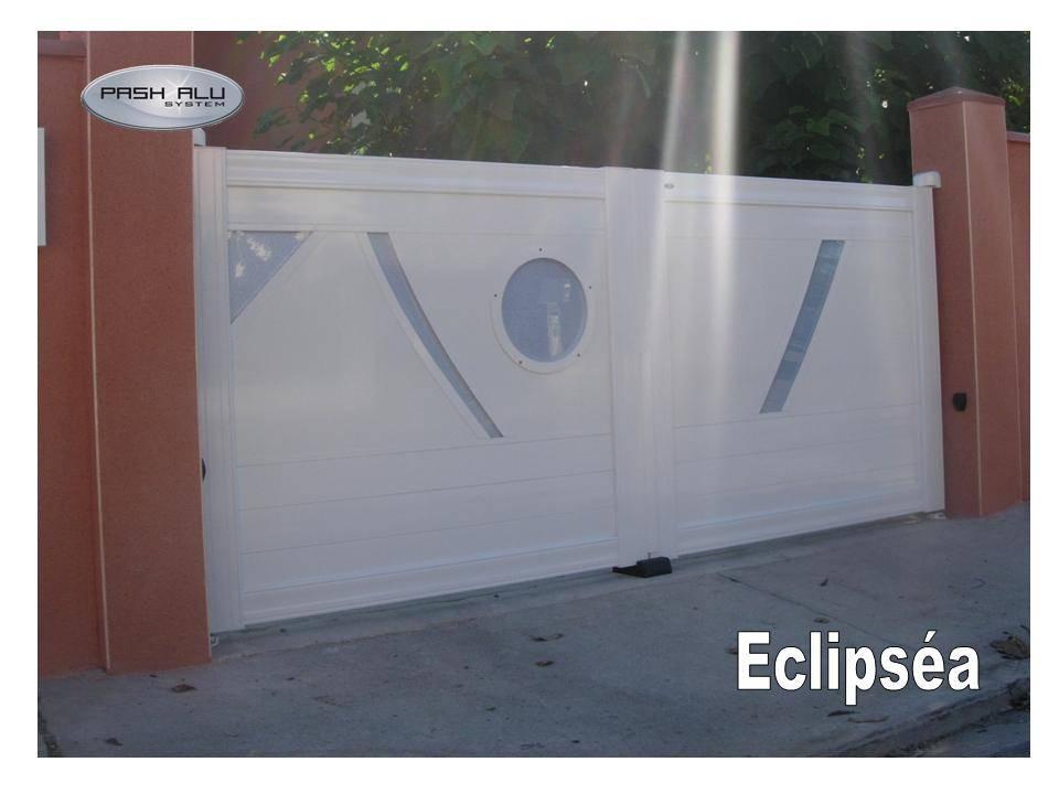 pose portail aluminium coulissant motoris colomiers pash alu system. Black Bedroom Furniture Sets. Home Design Ideas