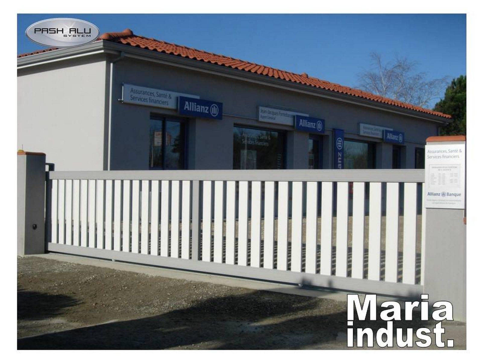 Portail industriel 7 m coulissant fabrication et pose de for Portail coulissant alu m